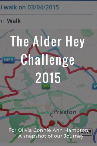 The Alder Hey Challenge 2015 For Olivia Connie Ann Hampton - A snapshot of our Journey