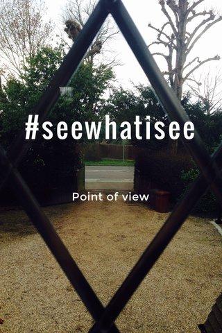 #seewhatisee Point of view