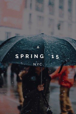 SPRING '15 NYC