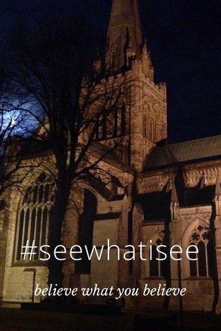 #seewhatisee believe what you believe