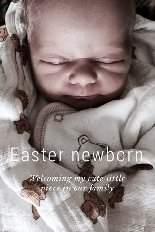 Easter newborn Welcoming my cute little niece in our family