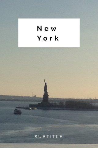 New York SUBTITLE
