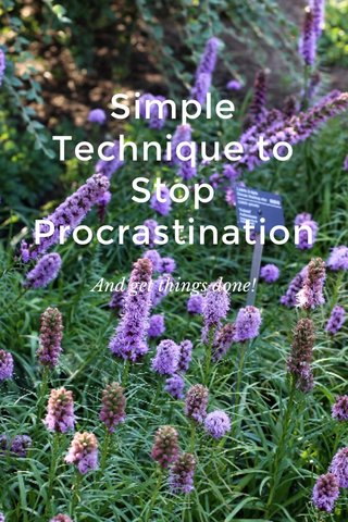 Simple Technique to Stop Procrastination And get things done!