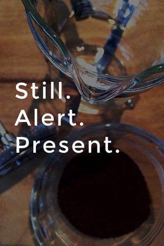 Still. Alert. Present.
