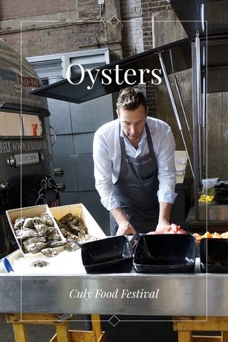 Oysters Culy Food Festival