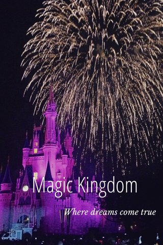 Magic Kingdom Where dreams come true