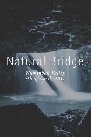 Natural Bridge Numinbah Valley 7th of April, 2015