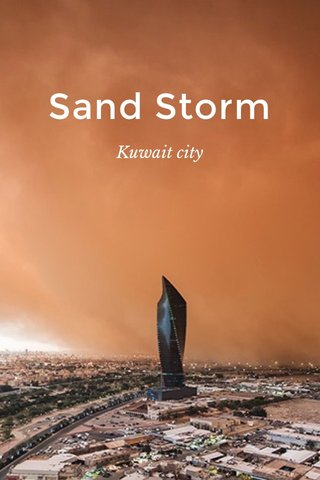 Sand Storm Kuwait city