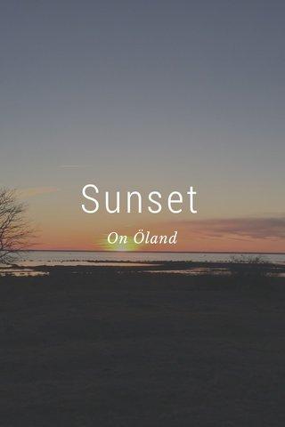 Sunset On Öland