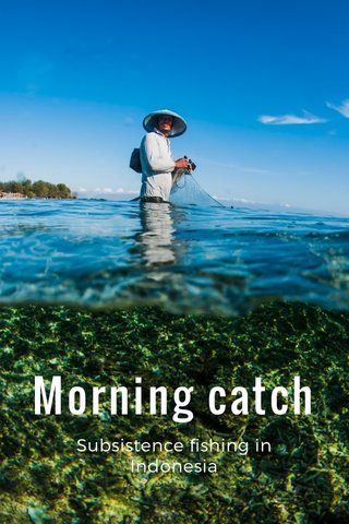 Morning catch Subsistence fishing in Indonesia