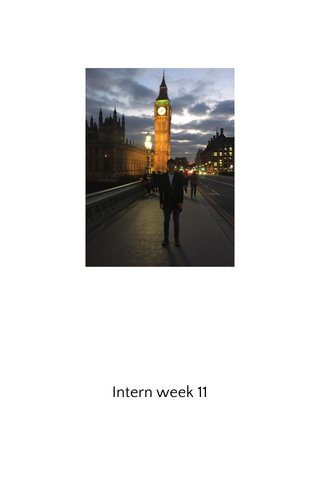 Intern week 11
