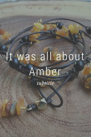 It was all about Amber subtitle