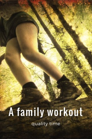 A family workout quality time