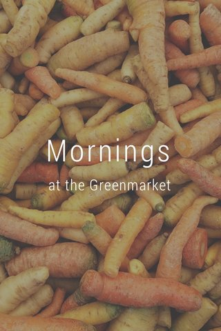Mornings at the Greenmarket