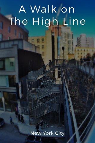 A Walk on The High Line New York City