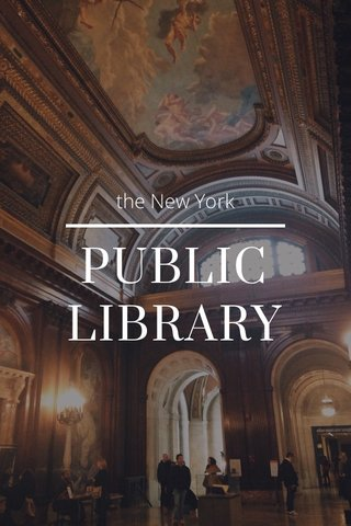 PUBLIC LIBRARY the New York