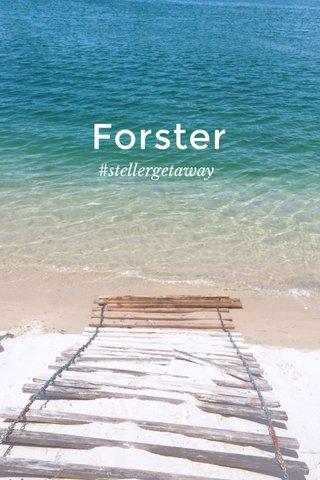 Forster #stellergetaway