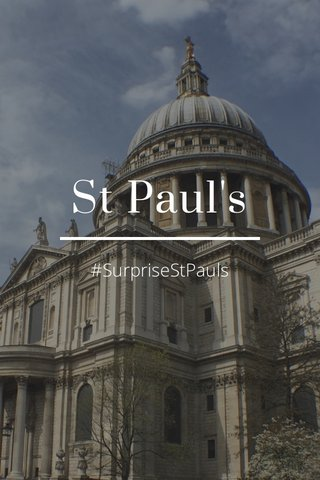 St Paul's #SurpriseStPauls