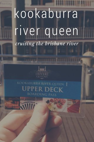 kookaburra river queen cruising the brisbane river