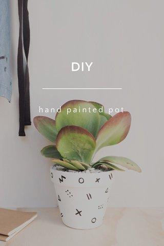 DIY hand painted pot