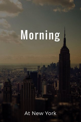 Morning At New York