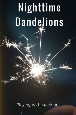 Nighttime Dandelions Playing with sparklers