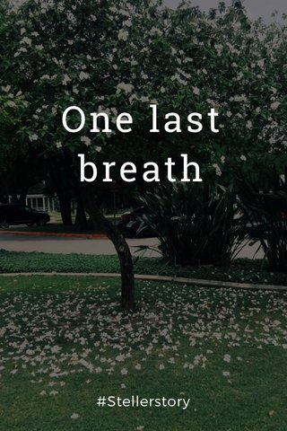 One last breath #Stellerstory