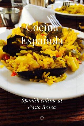 Cocina Española Spanish cuisine at Costa Brava