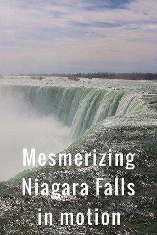 Mesmerizing Niagara Falls in motion