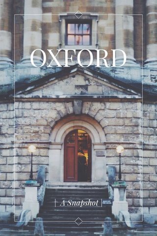 OXFORD | A Snapshot |