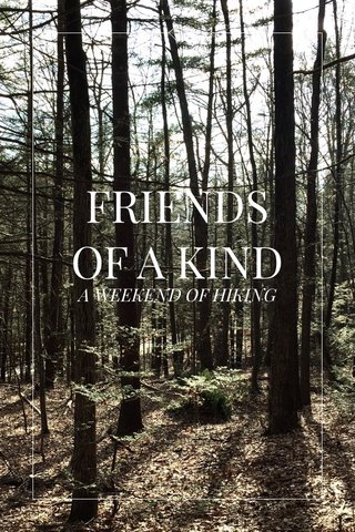 FRIENDS OF A KIND A WEEKEND OF HIKING
