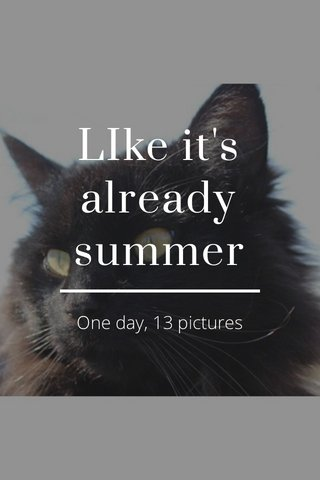 LIke it's already summer One day, 13 pictures