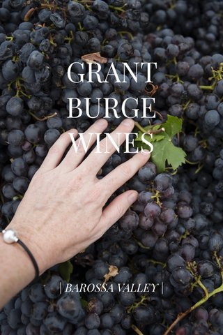 GRANT BURGE WINES   BAROSSA VALLEY  