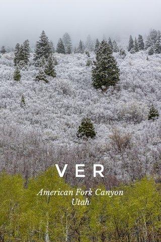 VER American Fork Canyon Utah