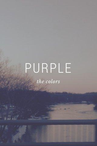 PURPLE the colors