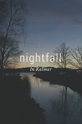 nightfall In Kalmar