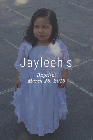 Jayleeh's Baptism March 28, 2015