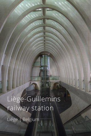 Liège-Guillemins railway station Liége   Belgium