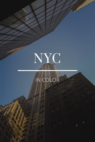 NYC IN COLOR