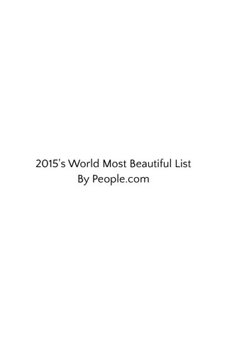 2015's World Most Beautiful List By People.com