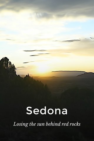 Sedona Losing the sun behind red rocks