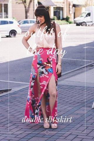 outfit of the day double slit skirt