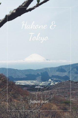 Hakone & Tokyo Japan 2015