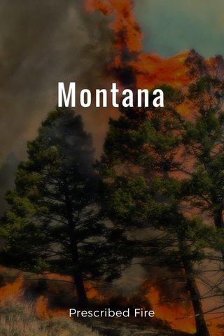 Montana Prescribed Fire