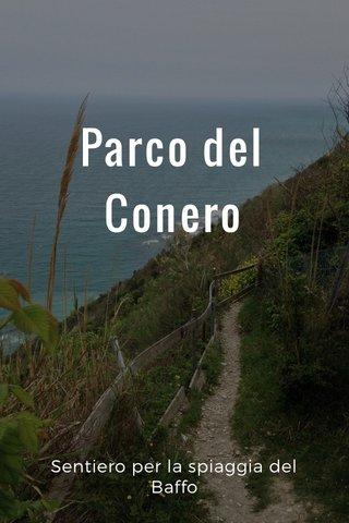 Parco del Conero Sentiero per la spiaggia del Baffo
