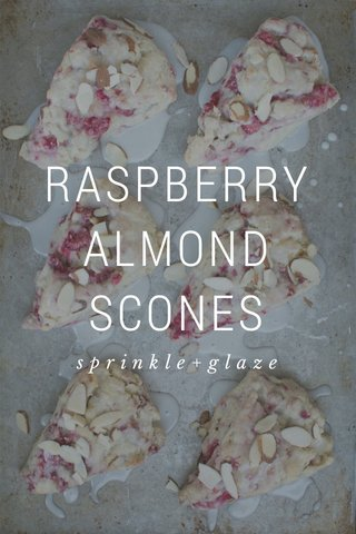 RASPBERRY ALMOND SCONES sprinkle+glaze