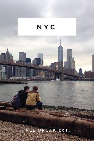 NYC FALL BREAK 2014