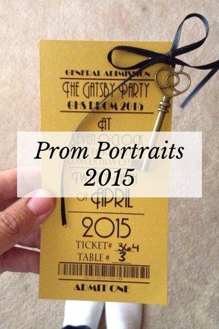 Prom Portraits 2015