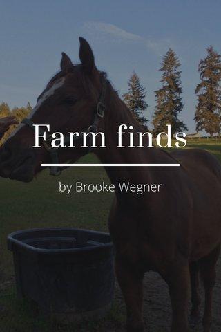 Farm finds by Brooke Wegner