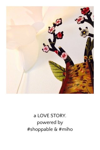 a LOVE STORY. powered by #shoppable & #miho